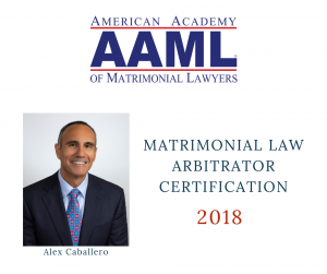 Alexander Caballero Matrimonial Law Artibrator Certification