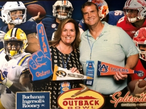 Caroline Black Sikorske at Outback Bowl Event