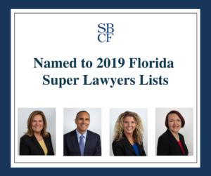 2019 Florida Super Lawyers Lists